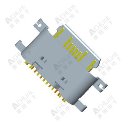 TYPE-C CF 16PIN(L=6.35) MID MOUNT 1.0