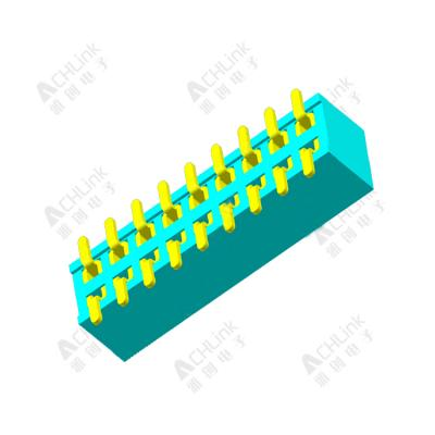 Female Header 1.27MM double row smt H=2.0MM