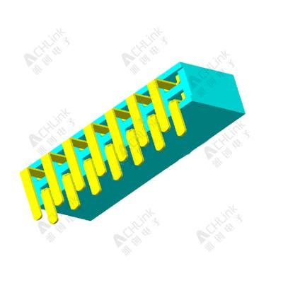 Female Header1.27MM double row 90 degrees H=4.3MM