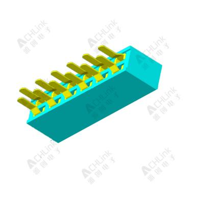 Female Header1.27MM double row 180 degrees H=4.3mm