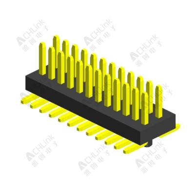 PIN HEADER PH0.8*1.2MM DOUBLE ROW SINGLE PLASTIC SMT H=1.40MM