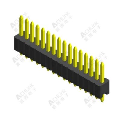 PIN HEADER PH1.0MM SINGLE ROW SINGLE PLASTIC 180° H=1.00MM