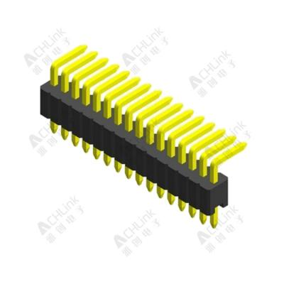 PIN HEADER PH1.0MM SINGLE ROW SINGLE PLASTIC 90° H=1.00MM