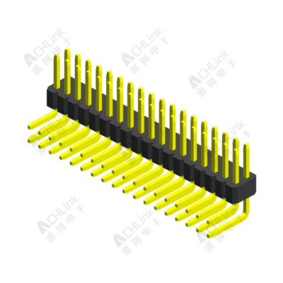 PIN HEADER PH1.0*1.0MM DOUBLE ROW SINGLE PLASTIC 90°  H=1.00MM