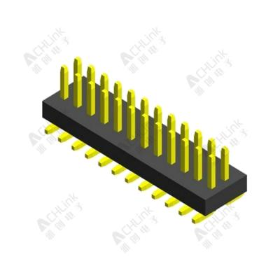 PIN HEADER PH1.0*1.0MM DOUBLE ROW SINGLE PLASTIC SMT H=1.00MM