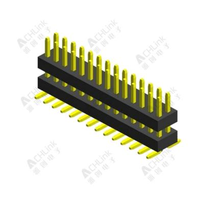 PIN HEADER PH1.0*1.0MM DOUBLE ROW DOUBLE PLASTIC SMT H=1.00MM